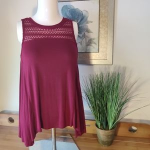 American Eagle Soft & Sexy Maroon Dark Red Tank Top XS